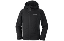 Columbia Boy's Splash Flash Hooded Softshell black/grill